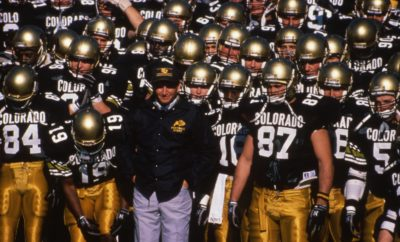 Colorado Buffaloes College Football National Championship 1990 Coach Bill McCartney Alfred Williams Eric Bieniemy Kansas City Chiefs Denver Broncos Mike Pritchard 104.3 The Fan Radio Chad Brown Darian Hagan David Plati Boulder Colorado Folsom Field Interviews Cherry Creek Magazine Kevin Marr
